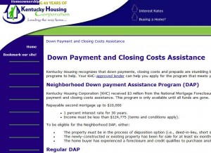 Kentucky First Time Home Buyer Grants