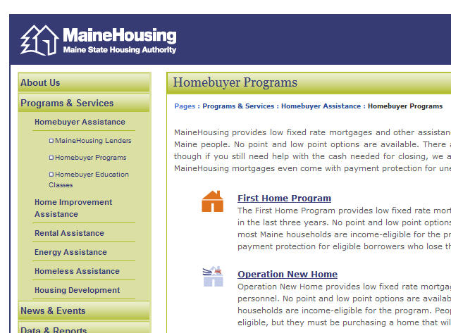 Maine first time home buyer grants for Maine first time home buyers