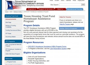 Texas First Time Home Buyer Grants 300x217 First Time Home Buyer Funds from The Texas Department of Housing and Community Affairs