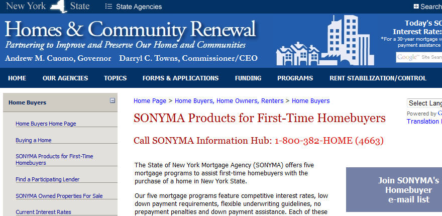 First Time Home Buyer Programs New York State