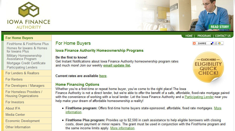 Iowa First Time Home Buyer Programs