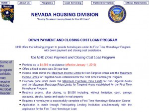 Nevada First Time Home Buyer Programs
